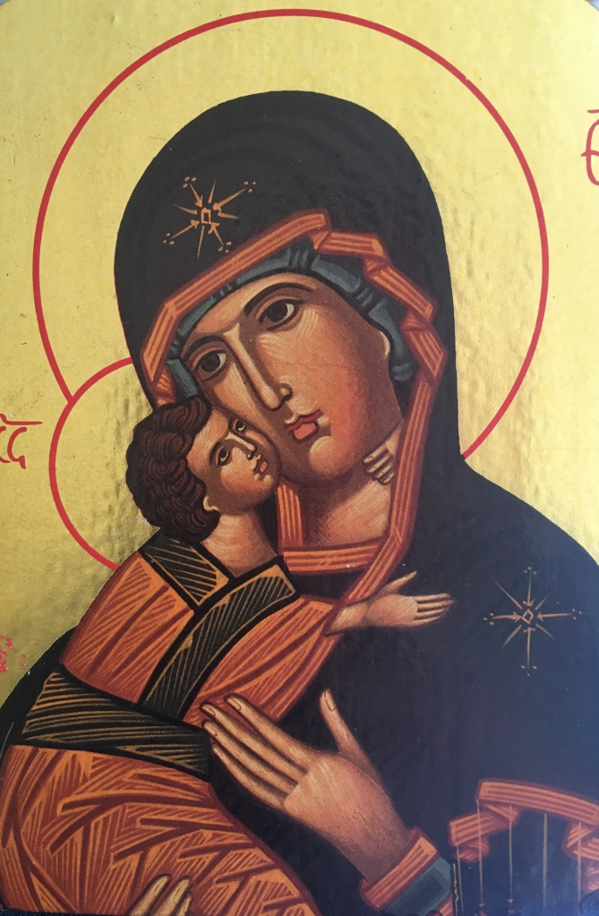 icon of Mary with Jesus